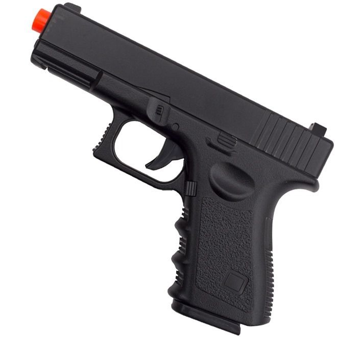 Pistola de Airsoft Spring Glock Full Metal 6mm - Galaxy
