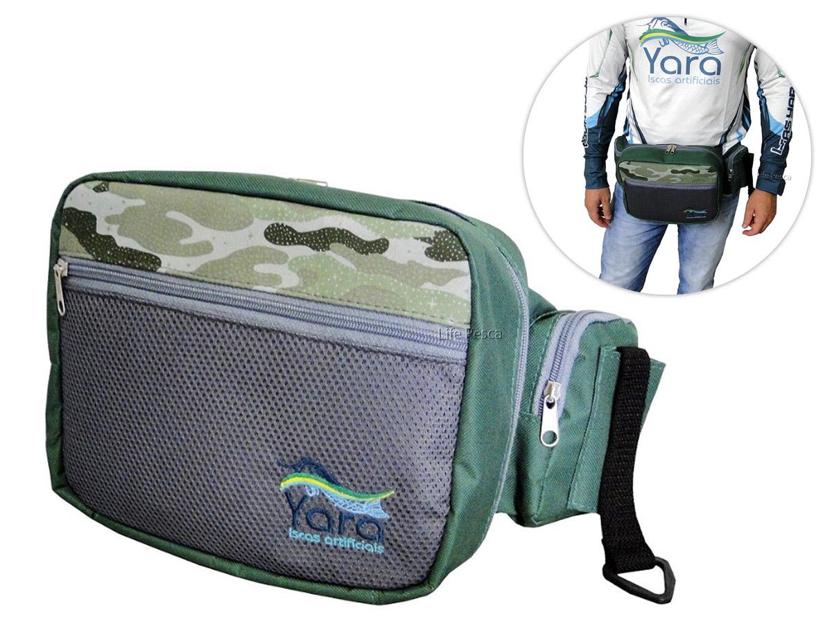 Pochete Para Pesca Yara C/ 5 Bolsos E Porta Alicate - Várias Cores