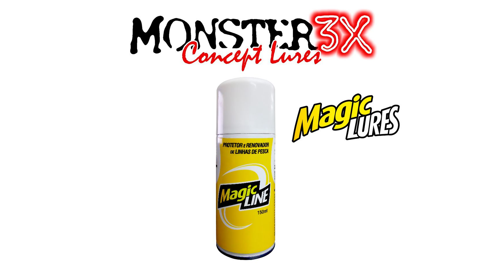 Renovador de Linhas de Pesca - Magic Line - Monster 3X