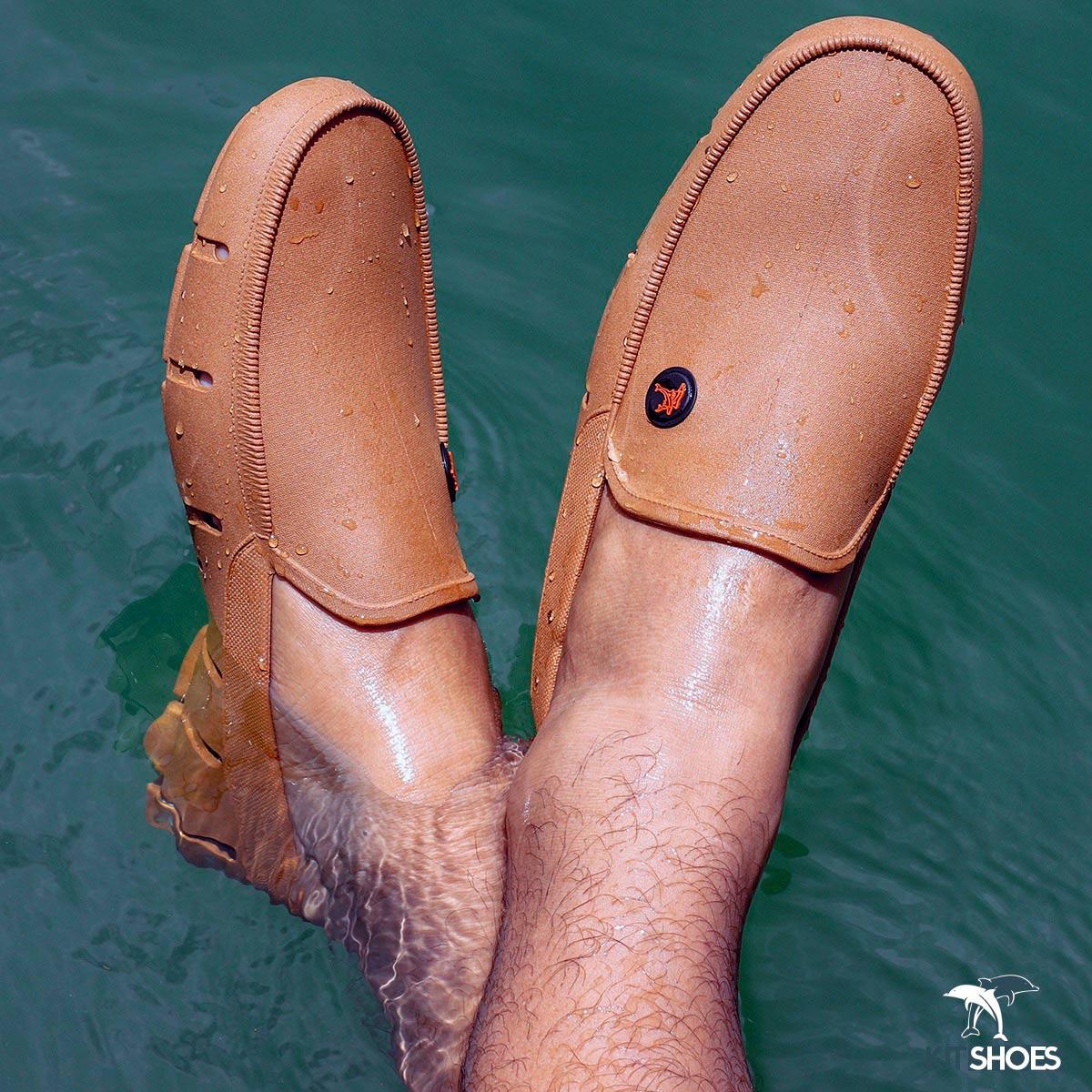 Sapatilha Aquática Mocassim Kit Shoes - Caramelo