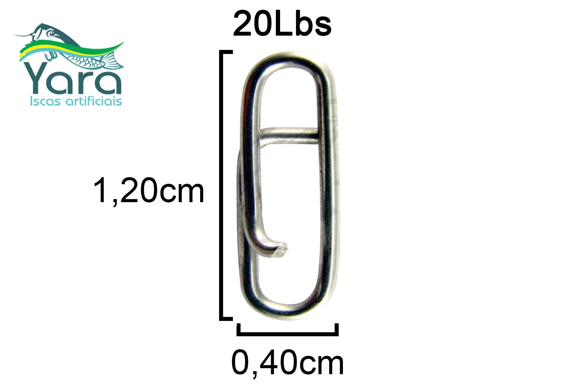 Snap Engate Rápido Yara - 20Lbs - 10 Unidades  - Life Pesca - Sua loja de Pesca, Camping e Lazer