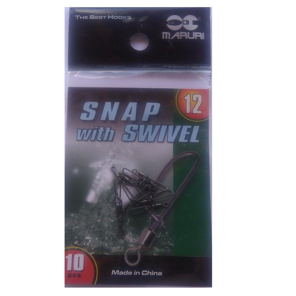 Snap Giratório Maruri Nº 12 (1,8cm) Black Nickel - 10 Peças  - Life Pesca - Sua loja de Pesca, Camping e Lazer