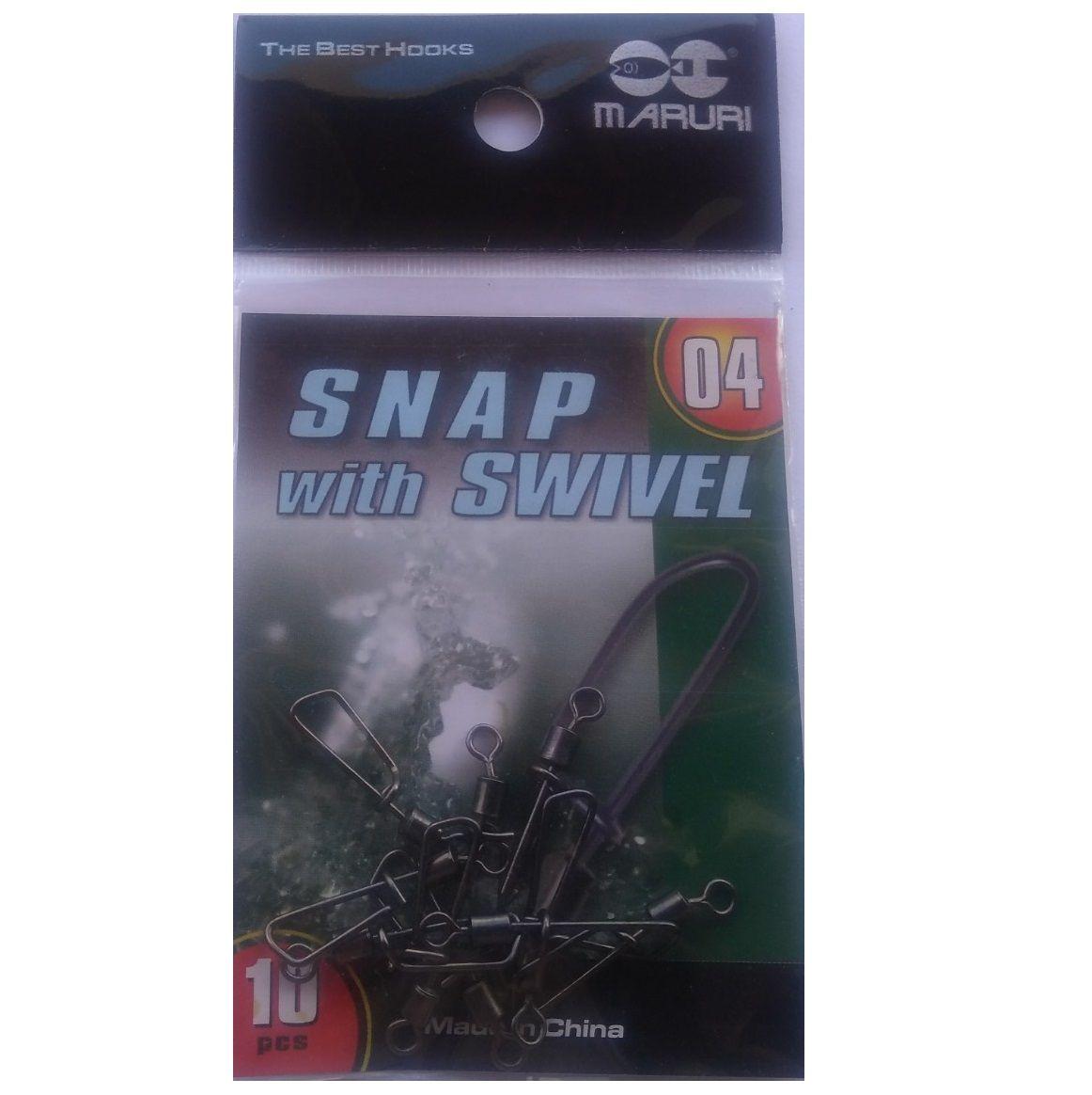 Snap Giratório Maruri Nº 4 (2,6cm) Black Nickel - 10 Peças  - Life Pesca - Sua loja de Pesca, Camping e Lazer