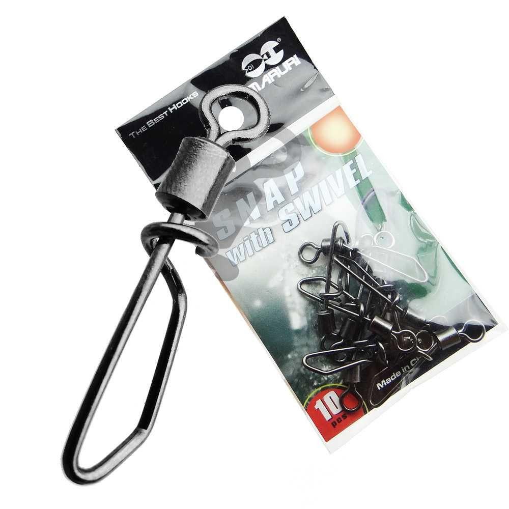 Snap Giratório Maruri Nº 6 (2,4cm) Black Nickel - 10 Peças  - Life Pesca - Sua loja de Pesca, Camping e Lazer