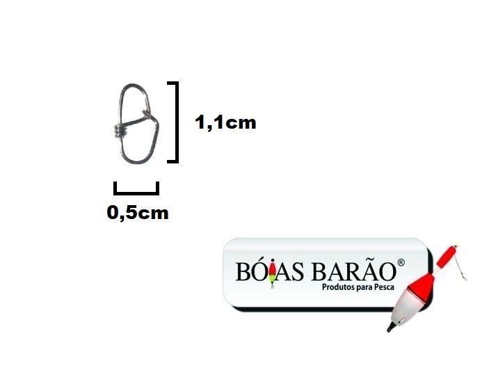 Snap Unilock Micro - Aço Inox 0,60mm Até 40kg - 10 Unidades - Bóias Barão  - Life Pesca - Sua loja de Pesca, Camping e Lazer