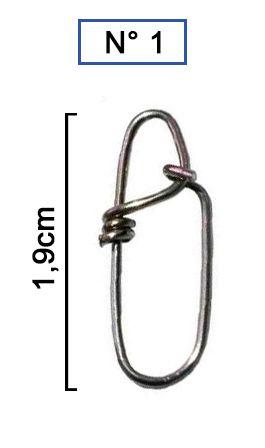 Snap Unilock Nº 1 - Aço Inox 0,80mm Até 77kg - 10 Unidades - Bóias Barão  - Life Pesca - Sua loja de Pesca, Camping e Lazer