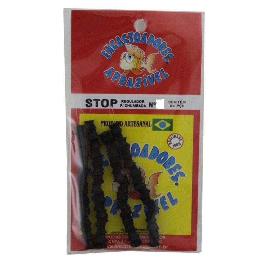 Stop de Linha Para Chumbada Aprazível N° 8 - 4 Peças