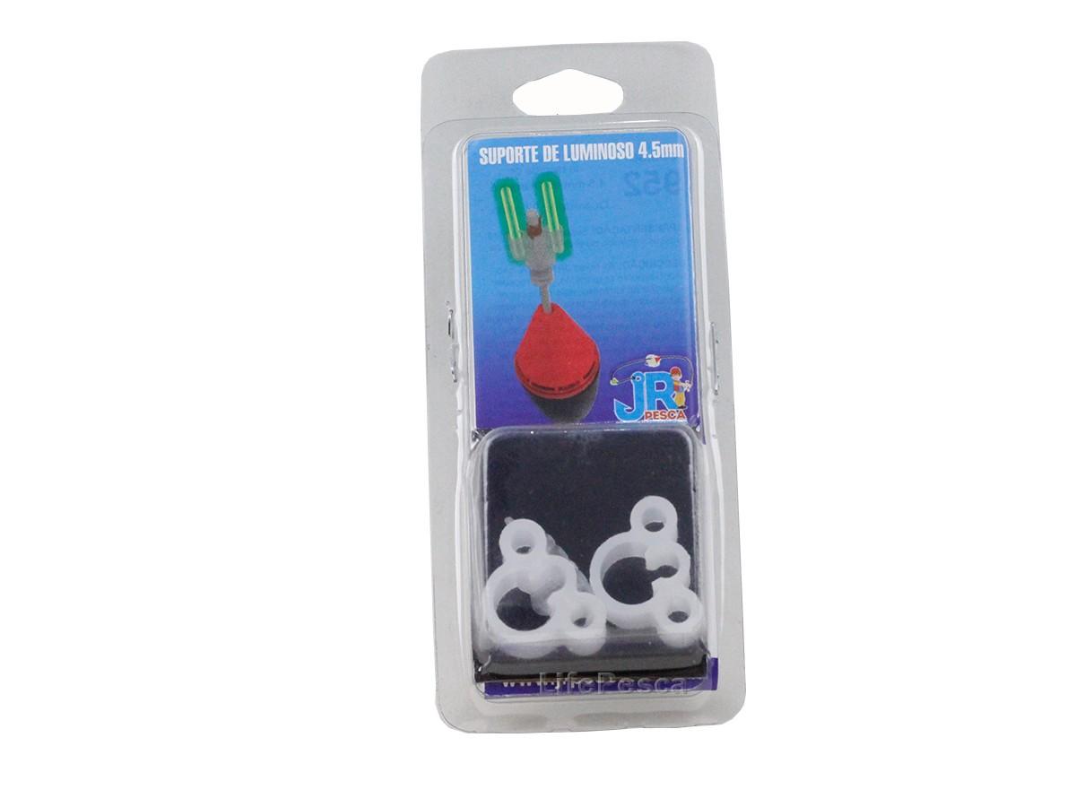 Suporte JR Pesca para Luminoso 2x4,5mm - Cartela C/ 2 Peças