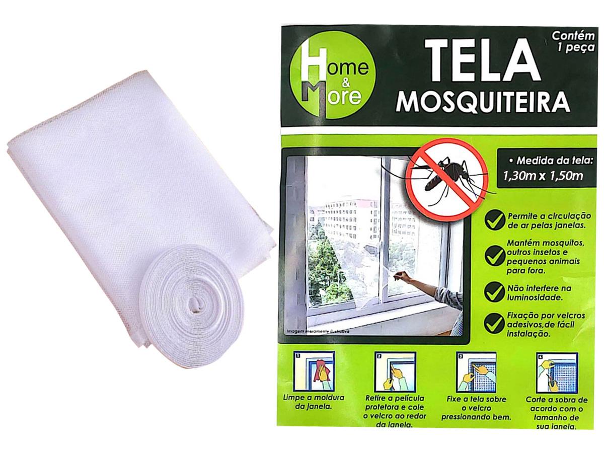 Tela Protetora de Mosquitos, Pernilongos Com Velcro (1,30m x 1,50m)