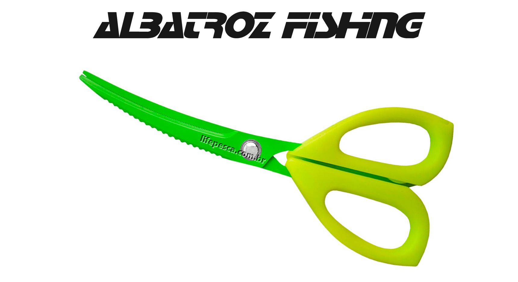 Tesoura Serrilhada Grande JD5108 23,5 cm - Albatroz Fishing