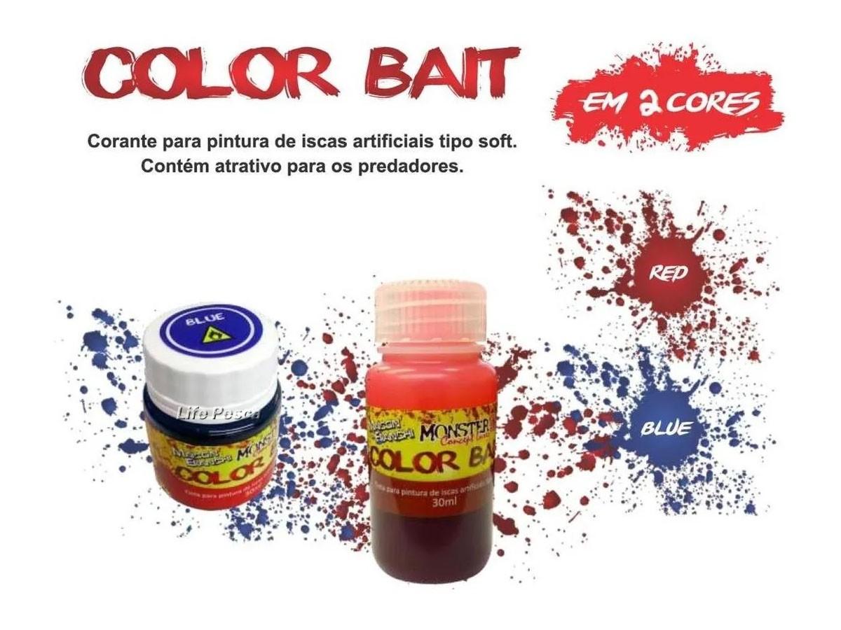 Tinta Color bait Monster 3X (30ml) - Azul  - Life Pesca - Sua loja de Pesca, Camping e Lazer