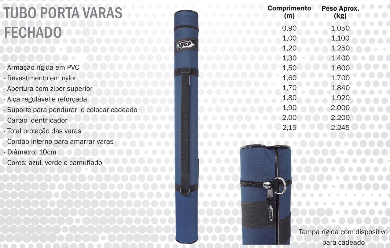 Tubo Porta Varas Fechado Jogá - 2,00 Metros  - Life Pesca - Sua loja de Pesca, Camping e Lazer