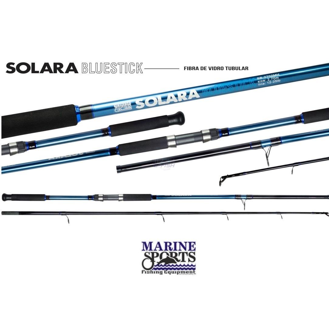 Vara Para Molinete Marine Sports Solara Redstick e Bluestick (2,10m) 12-25lb 2p  - Life Pesca - Sua loja de Pesca, Camping e Lazer