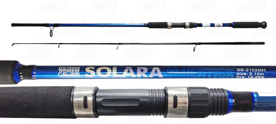Vara Para Molinete Marine Sports Solara Redstick e Bluestick (2,40m) 12-25lb 2p  - Life Pesca - Sua loja de Pesca, Camping e Lazer