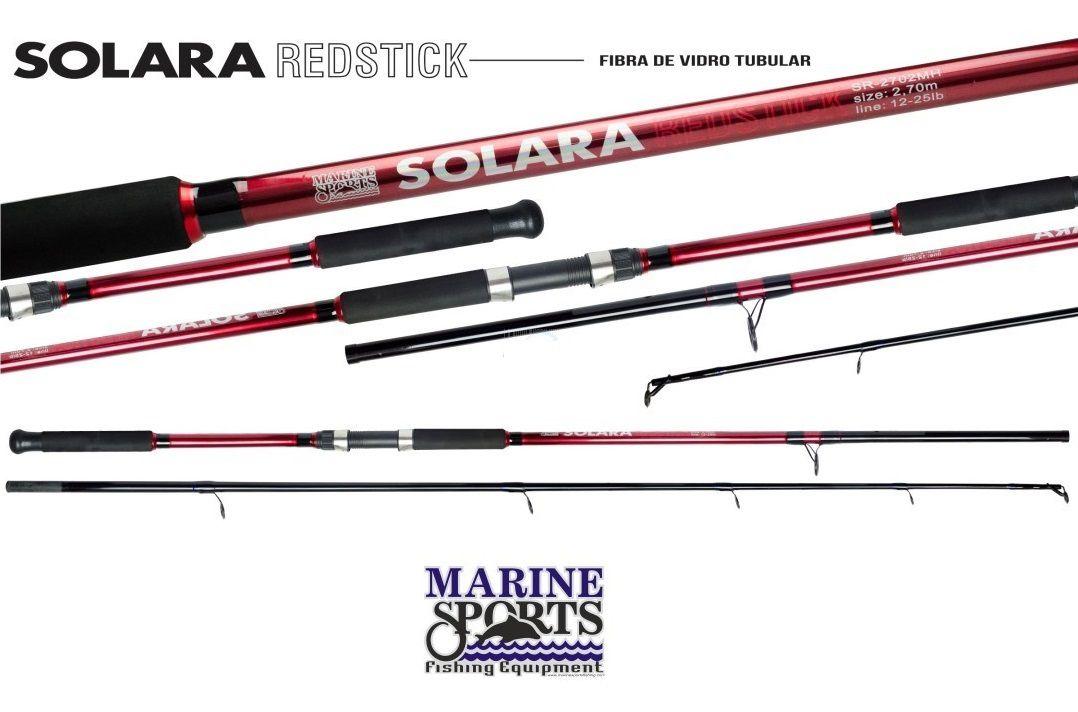 Vara Para Molinete Marine Sports Solara Redstick e Bluestick (2,70m) 12-25lb 2p  - Life Pesca - Sua loja de Pesca, Camping e Lazer