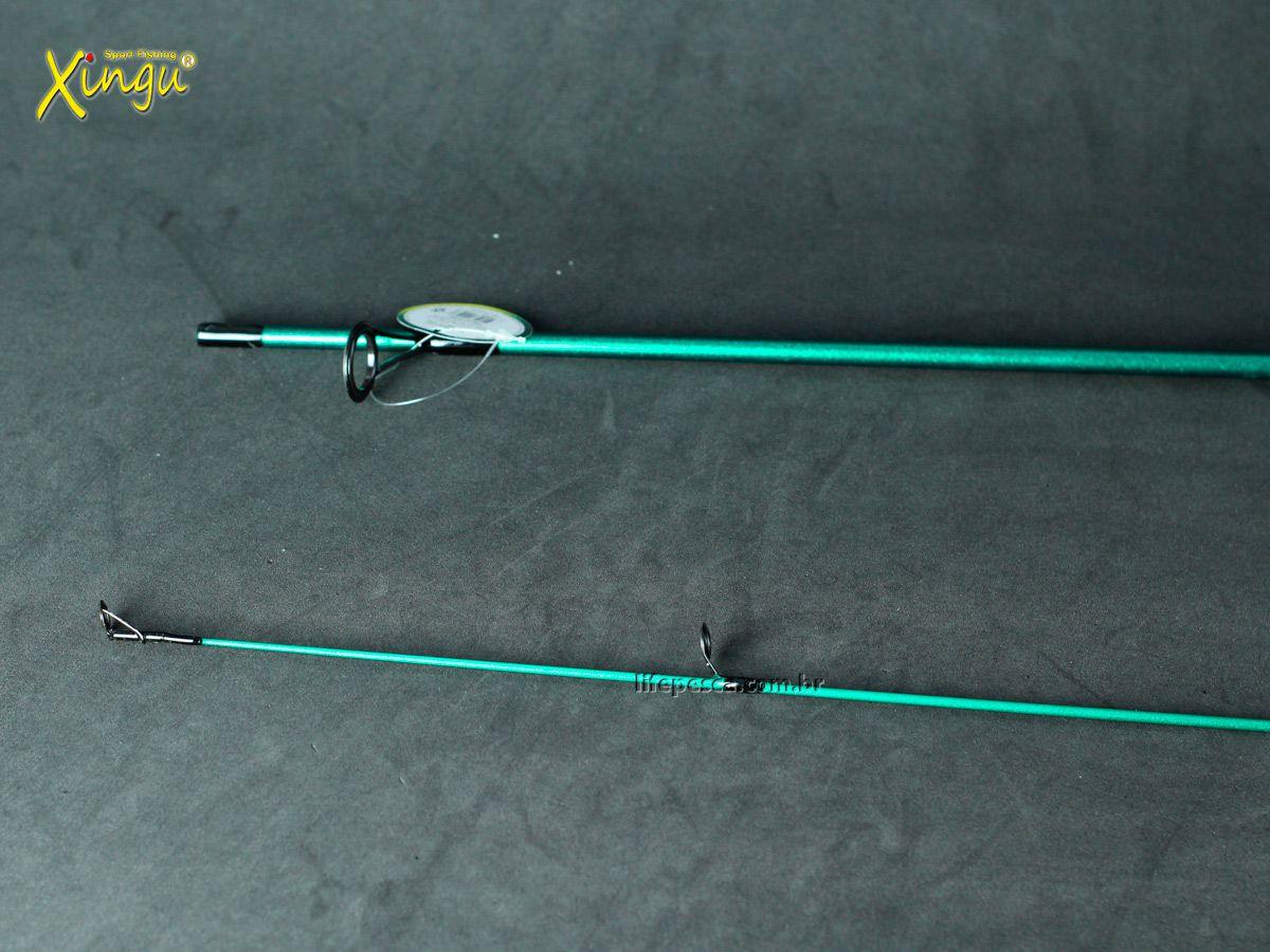 Vara P/ Molinete Tupi M150 4-11lb 1,50m 2 Partes - Xingu  - Life Pesca - Sua loja de Pesca, Camping e Lazer