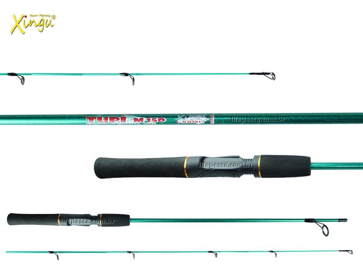 Vara P/ Molinete Tupi M150 4-11lb 1,50m 2 Partes - Xingu
