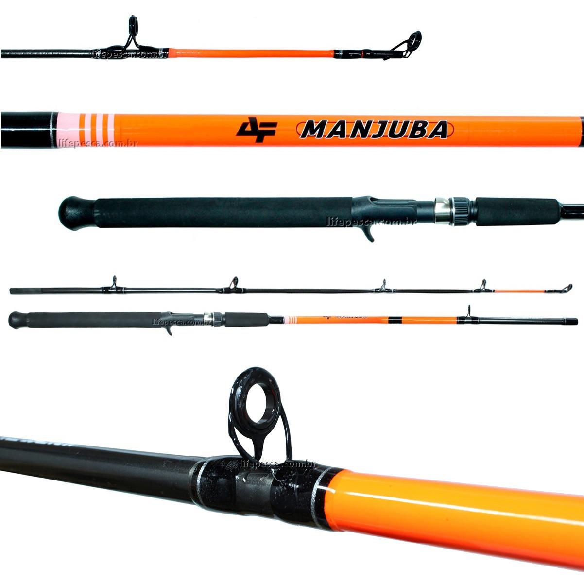 Vara Para Carretilha Albatroz Fishing Manjuba 9 0 (2,70m) 15-30Lbs - C2702 - 2 Partes  - Life Pesca - Sua loja de Pesca, Camping e Lazer