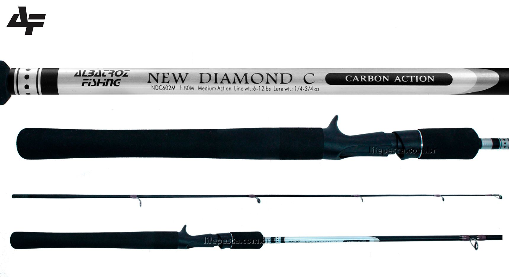 Vara para Carretilha Albatroz New Diamond 6'0