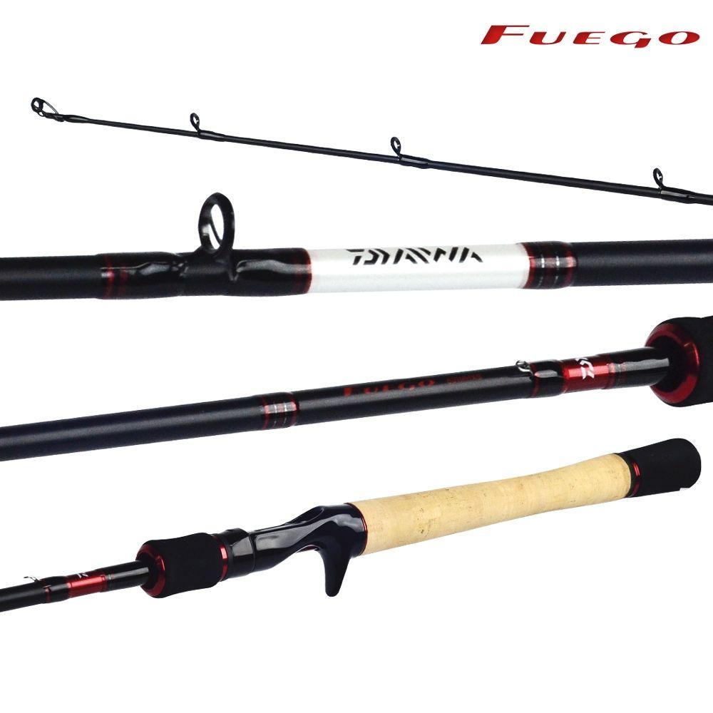 """Vara para Carretilha Daiwa Fuego 5""""6 (1,68m) 8-17lbs FG-562MXB-BR - 2 Partes  - Life Pesca - Sua loja de Pesca, Camping e Lazer"""
