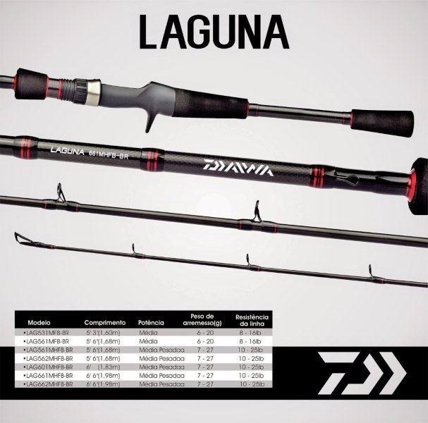 Vara para carretilha Daiwa Laguna 6