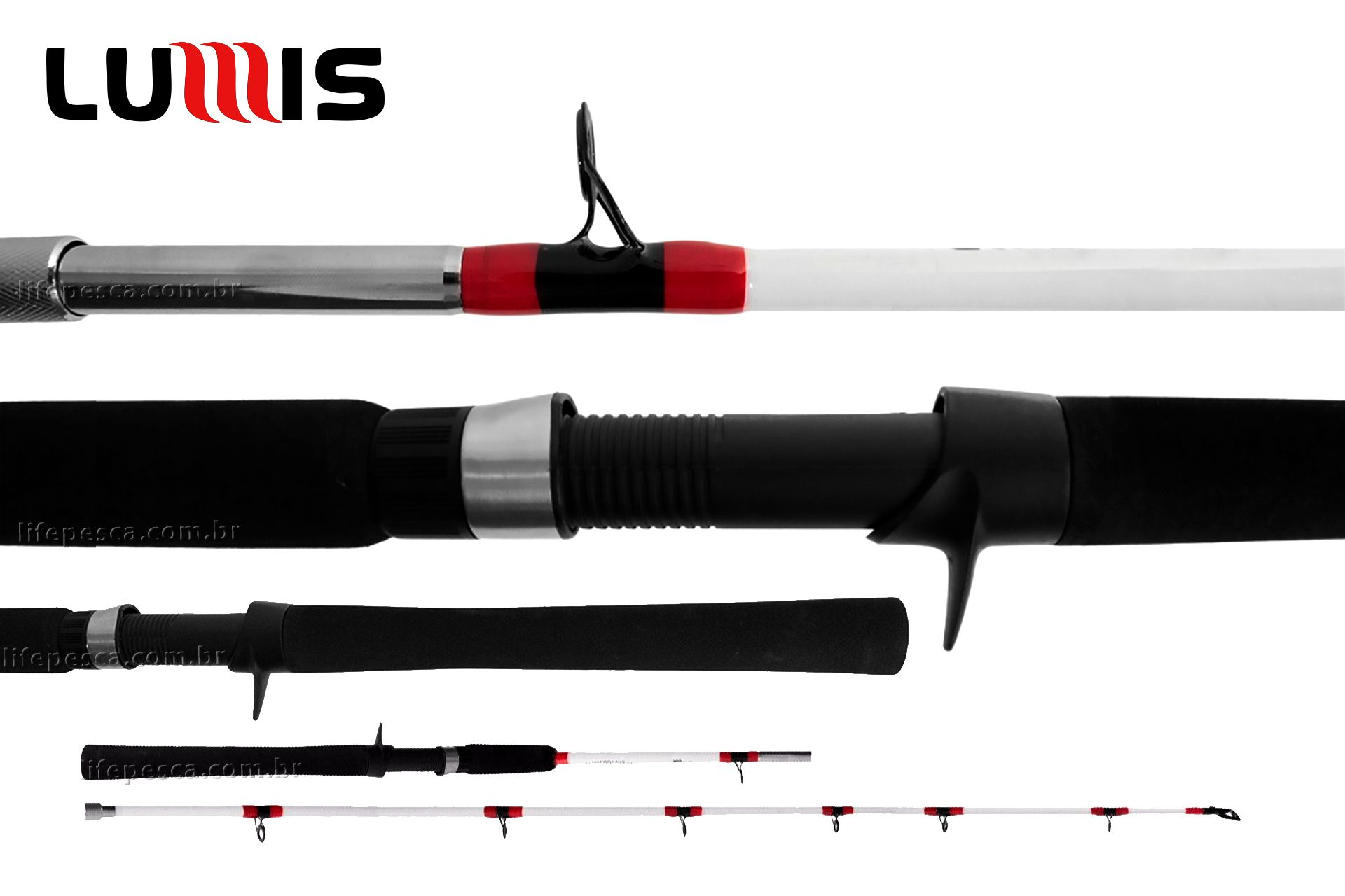 Vara Para Carretilha Lumis Brabus Cast 5 8 (1,73m) 20-60Lbs - BR58602 - 2 Partes  - Life Pesca - Sua loja de Pesca, Camping e Lazer