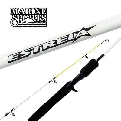 Vara para Carretilha Marine Sports Estrela 5 6 (1,68m) 10-20Lbs EJF-C561M - Inteiriça - Várias Cores  - Life Pesca - Sua loja de Pesca, Camping e Lazer