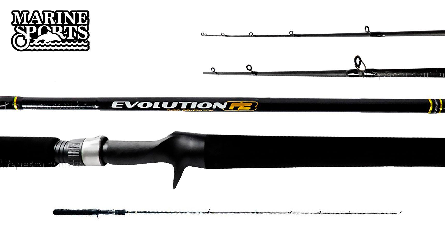 Vara Para Carretilha Marine Sports Evolution G3 7 0 (2,13m) 15-30lbs EVG3-C701MH - Inteririça  - Life Pesca - Sua loja de Pesca, Camping e Lazer
