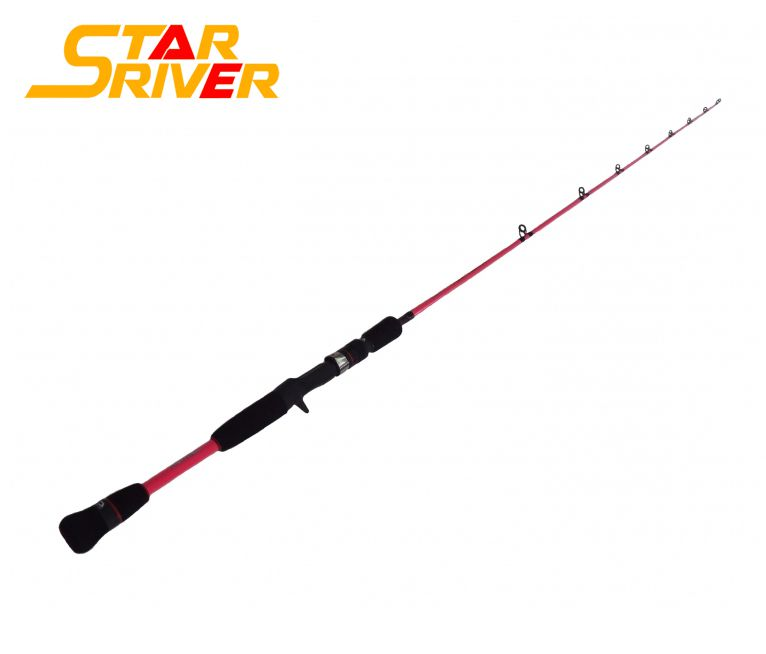 Vara para Carretilha Star River Pioneer Pink 5 3 (1,62m) 6-17lbs - Inteiriça