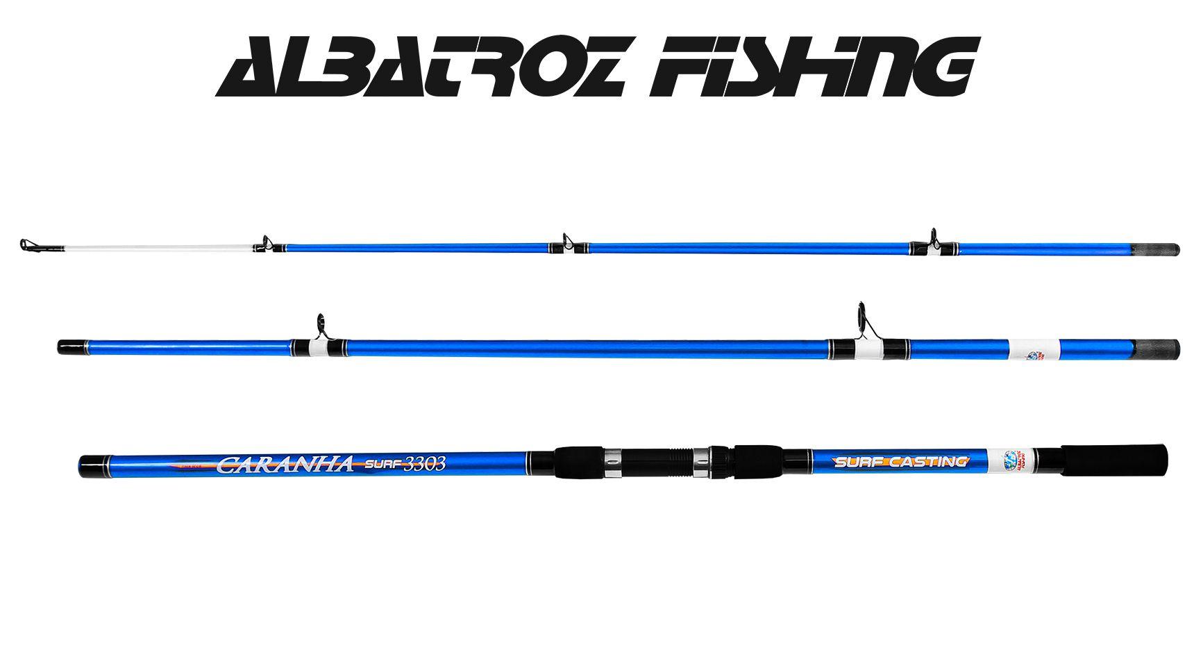Vara Para Molinete Albatroz Fishing Caranha Surf 3903 (3,90m) 40-60Lb - 3 Partes