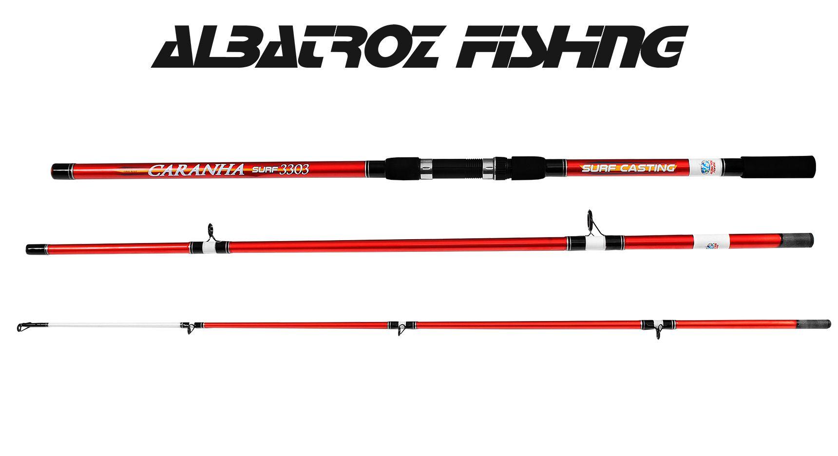 Vara Para Molinete Albatroz Fishing Caranha Surf 4203 (4,20m) 40-60Lbs - 3 Partes  - Life Pesca - Sua loja de Pesca, Camping e Lazer