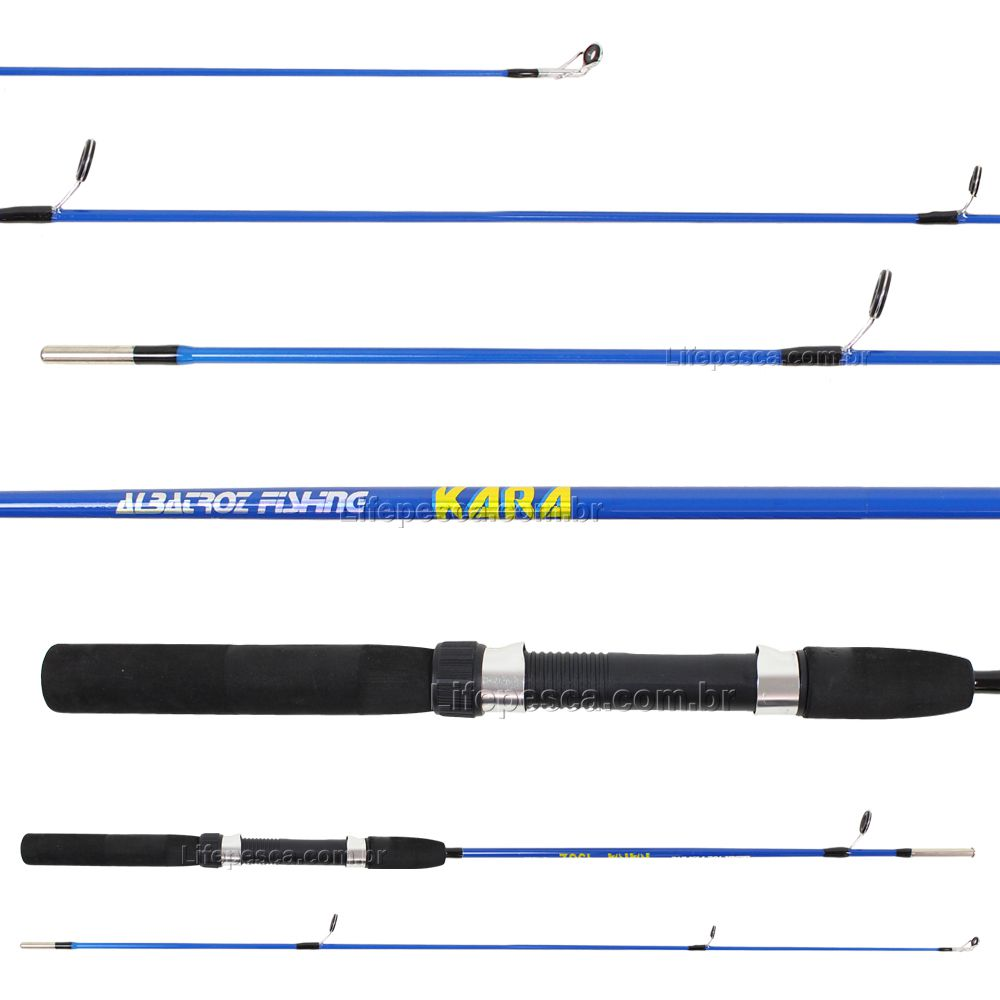 Vara Para Molinete Albatroz Kara (1,35m) 4-12lbs S1352 - 2 Partes - Várias Cores