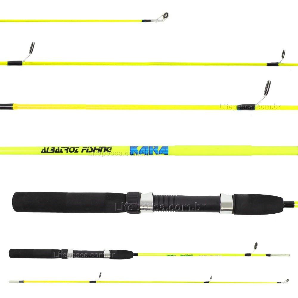 Vara Para Molinete Albatroz Kara (1,65m) 10-20lbs S1651 Inteiriça - Várias Cores