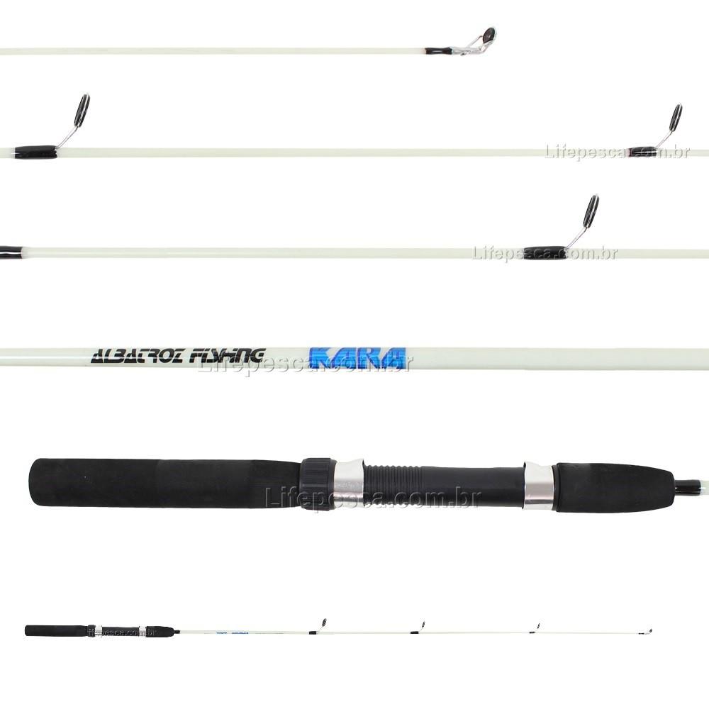Vara Para Molinete Albatroz Kara (1,65m) 10-20lbs S1651 Inteiriça - Várias Cores   - Life Pesca - Sua loja de Pesca, Camping e Lazer