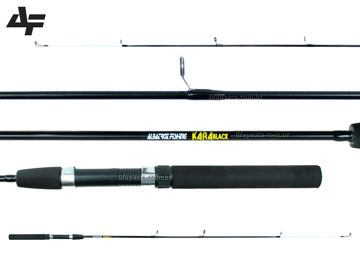 Vara Para Molinete Albatroz Kara Black (1,50m) 8-16lbs - Inteiriça