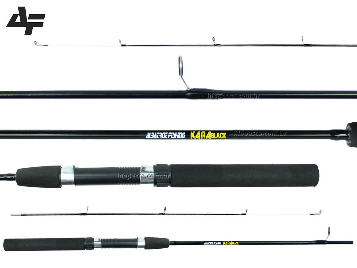 Vara Para Molinete Albatroz Kara Black (1,80m) 15-25lbs - 2 Partes