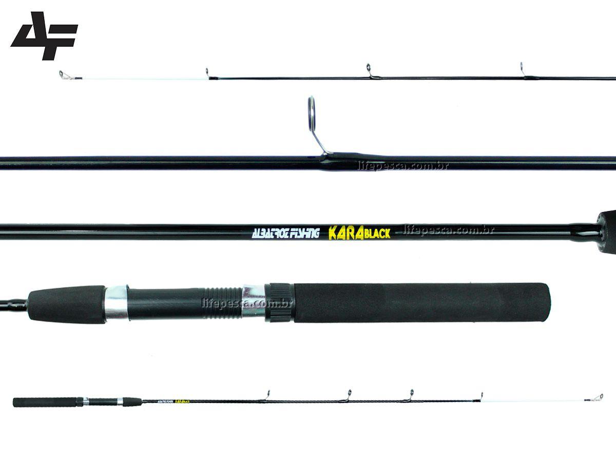 Vara Para Molinete Albatroz Kara Black (1,80m) 15-25lbs - Inteiriça