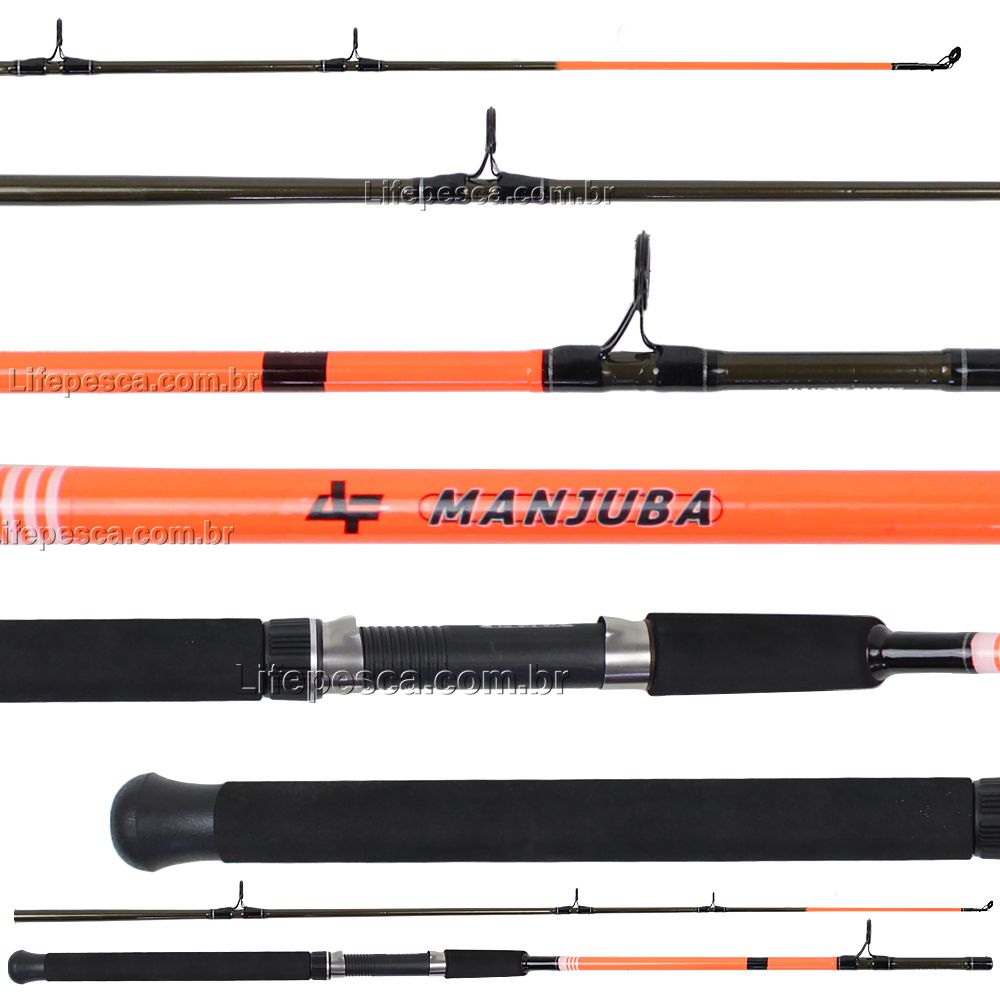 Vara Para Molinete Albatroz Fishing Manjuba 7 0 (2,10m) 12-25Lbs S2102 - 2 Partes