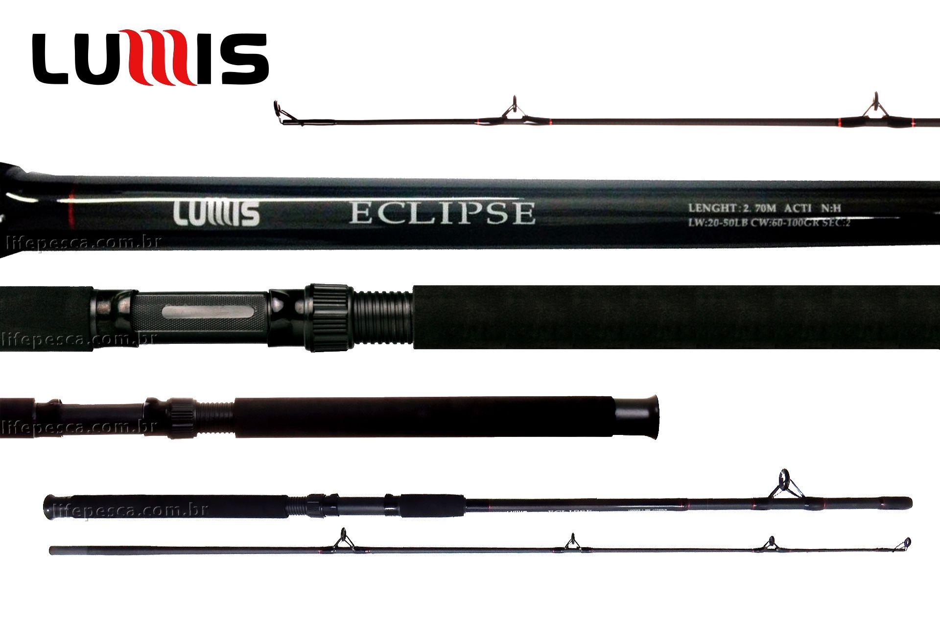 Vara Para Molinete Lumis Eclipse Spin 8 0 (2,40m) 20-50Lbs - E240 - 2 Partes  - Life Pesca - Sua loja de Pesca, Camping e Lazer