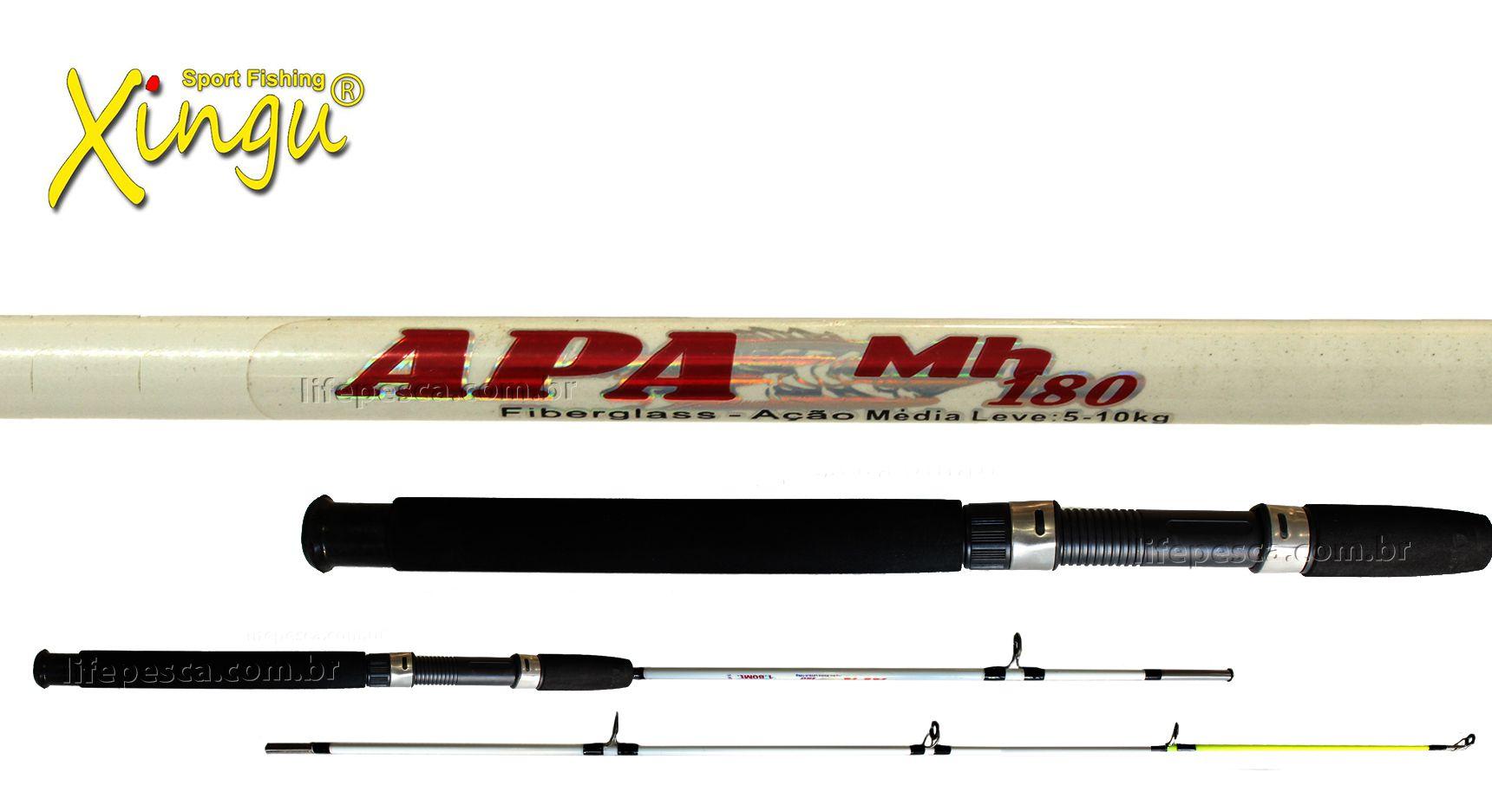 Vara para Molinete Xingu APA MH 6 0 (1,80m) 11-22Lbs XV3169 - 2 Partes - Várias Cores  - Life Pesca - Sua loja de Pesca, Camping e Lazer
