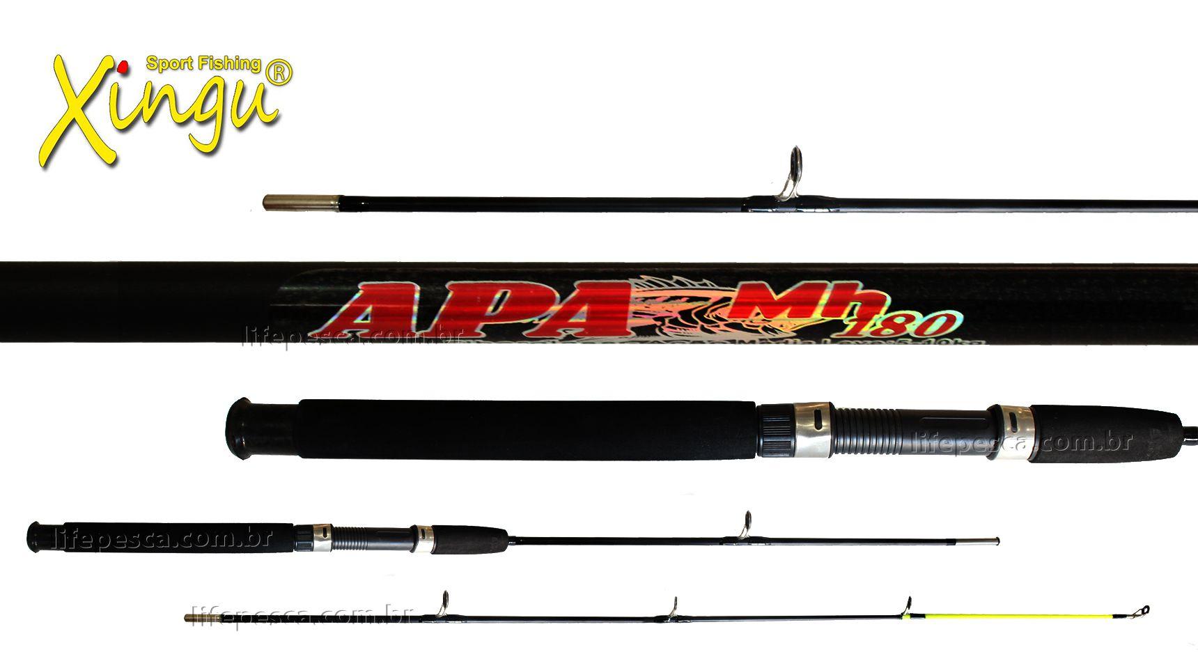 Vara para Molinete Xingu APA MH 8 0 (2,40m) 15-30Lbs XV3171 - 2 Partes - Várias Cores