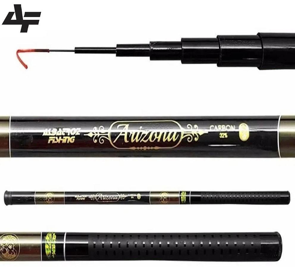 Vara Telescópica Albatroz Fishing Arizona 2,40 Metros - 32% Carbono