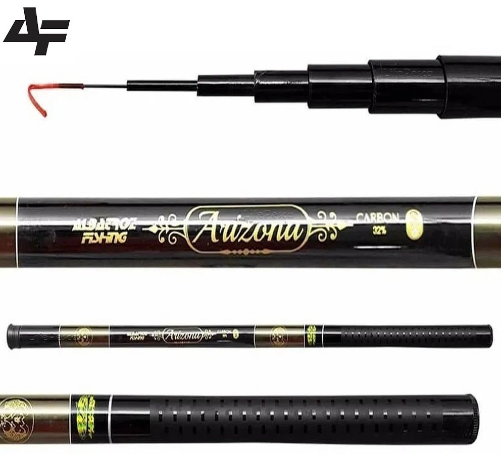 Vara Telescópica Albatroz Fishing Arizona 3,00 Metros - 32% Carbono