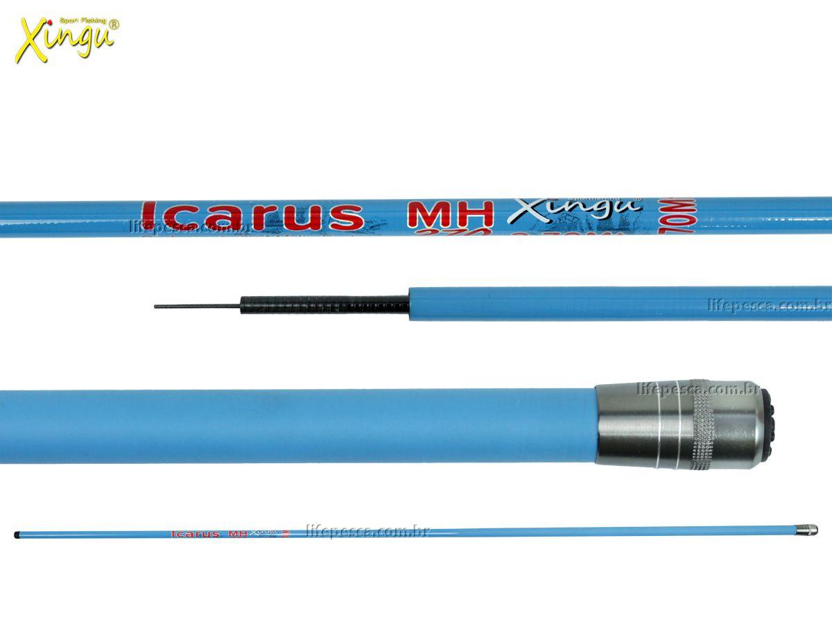 Vara Telescópica Xingu Icarus Carbono - 2,70 Metros