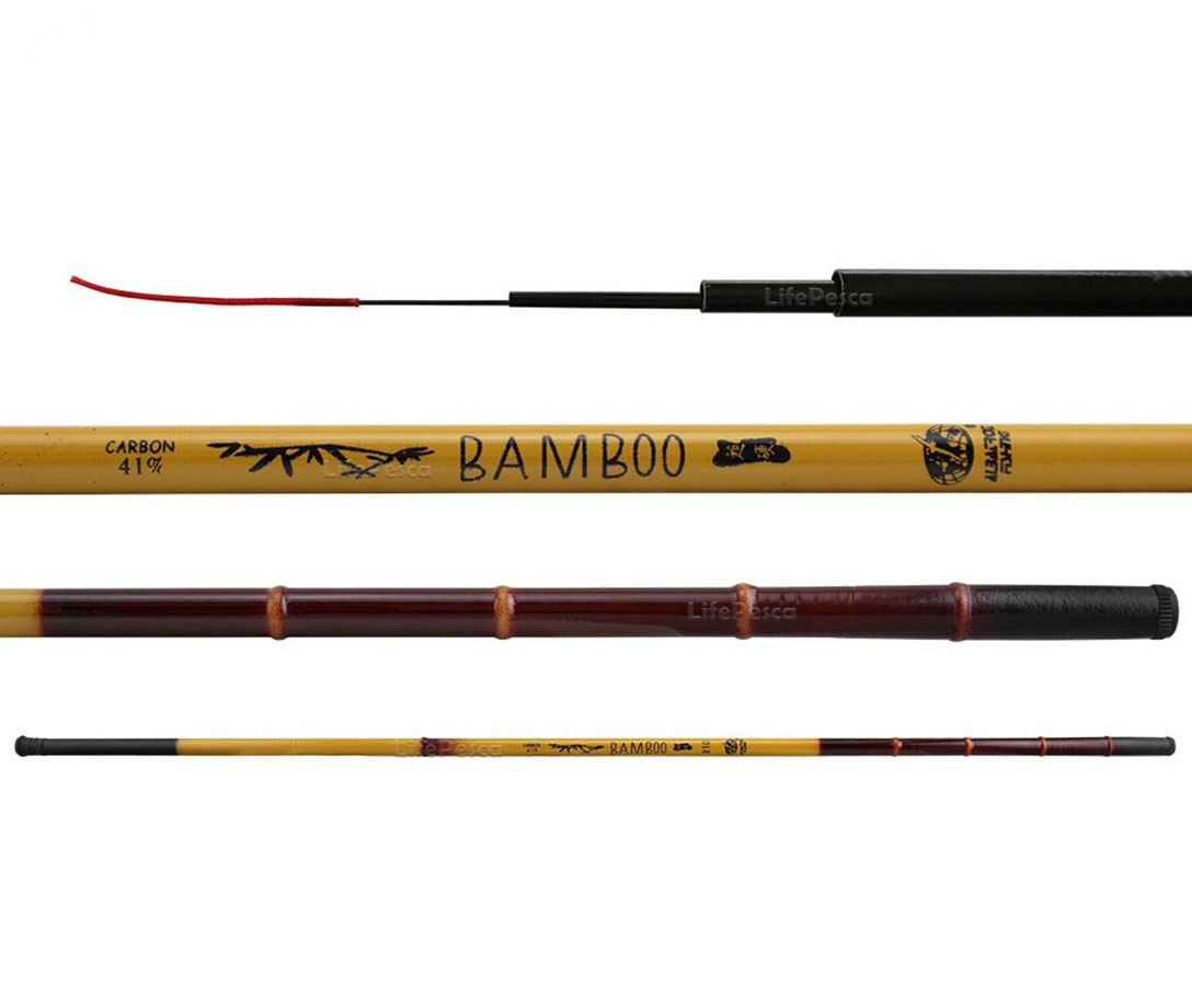 Vara Telescópicas Albatroz Fishing Bamboo 41% Carbono - 3,00 Metros