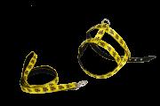 Guia E Peitoral D&G 4 Patas Com Regulagem Amarelo Decorado