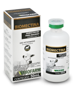 Ivermectina Biomectina 1% Injetavel 50 Ml Biofarm