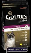Ração Premier Pet Golden de Frango para Gatos Adultos Castrados