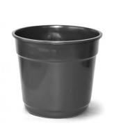 Vaso Plastico Preto N.04 - 21 cm - Nutriplast