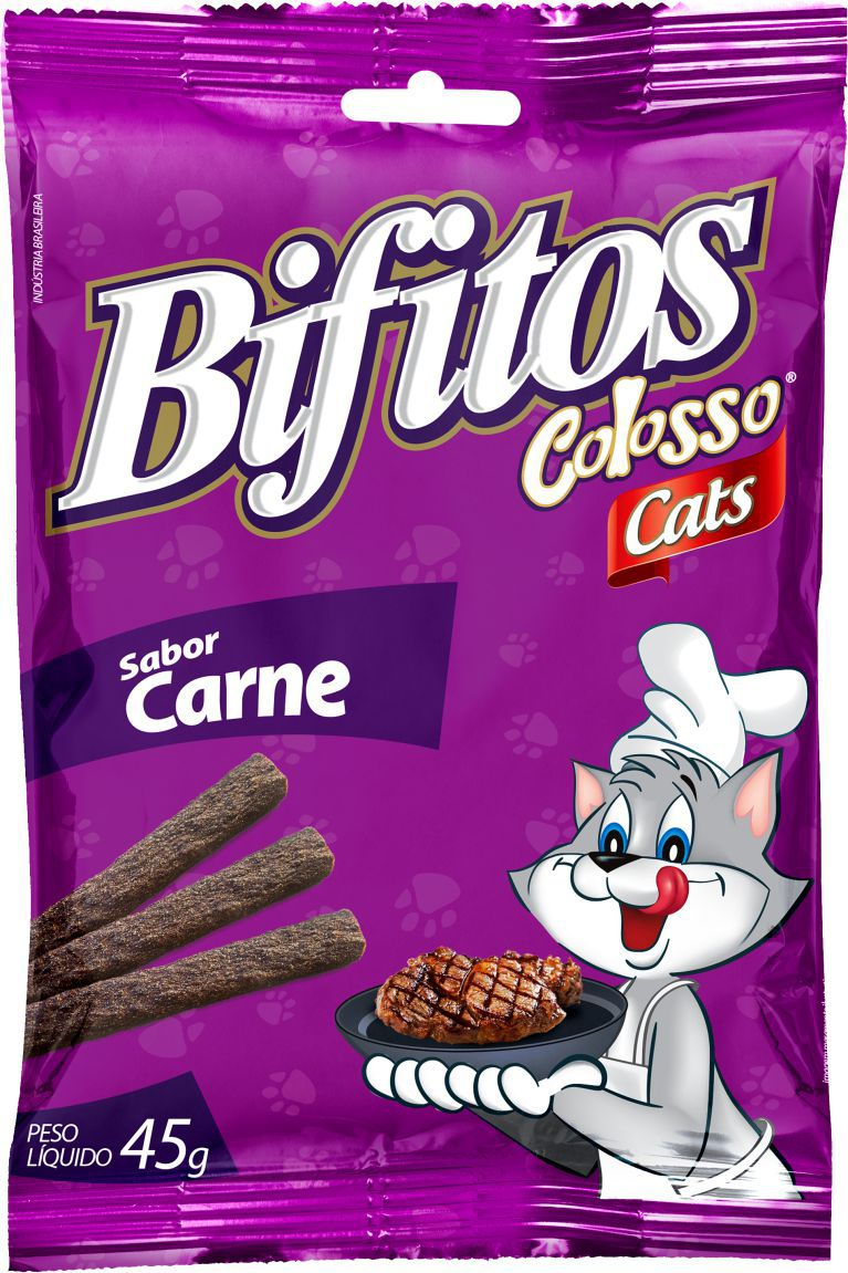 BIFITOS COLOSSO CATS CARNE 45 GRS